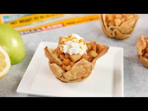 15 Minute Apple Pie Tortilla Cups