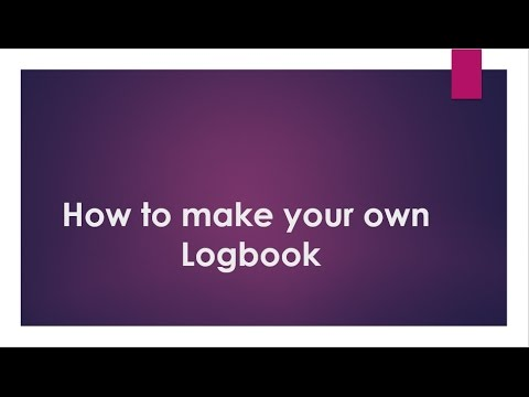 How to make your own logbook