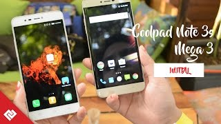 Coolpad Note 3S & Mega 3 Initial Impression And Specs