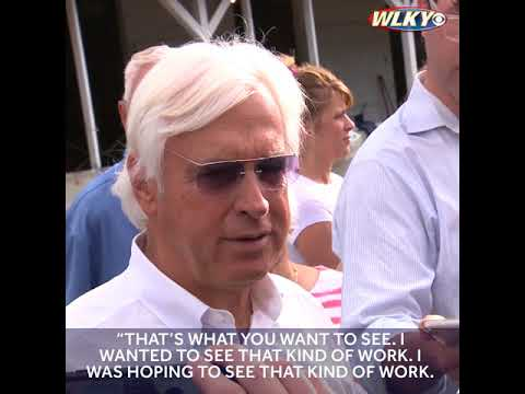 Baffert pleased with Justify's Tuesday work