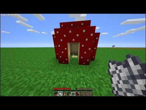 Minecraft 1.1 Mushroom House - Easy Way to Survive!