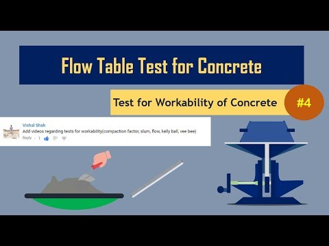 Flow Table Test for Concrete || Test for Workability of Concrete #4