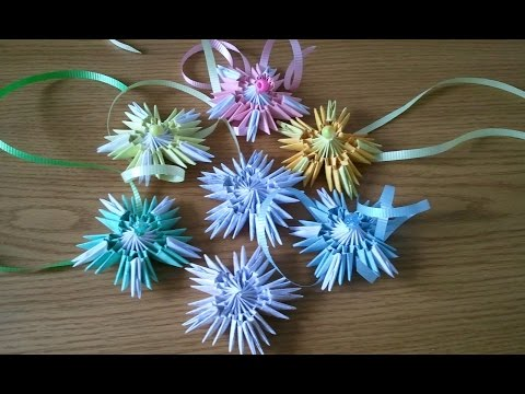 How to make 3D origami snowflake