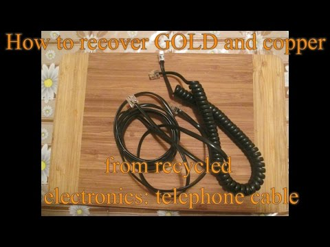 How to recover GOLD and copper from recycled electronics - telephone cable