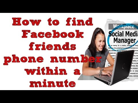 How to find all Facebook friends phone number within a min?