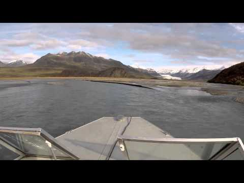 Boating up the Maclaren River