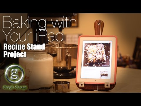 DIY iPad Stand for the Kitchen