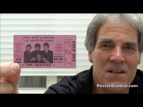 Beatles 1966 Ticket Stub w/SIX Advertisers Present – Unprecedented!
