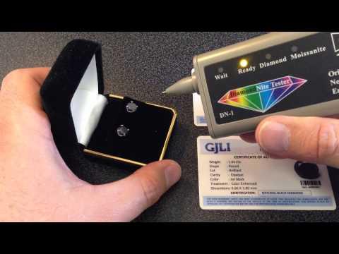 2.02tcw Jet Black Diamond Earrings Test