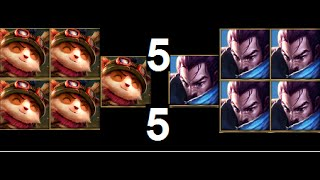 League of Legends * One for all mode * 5 Teemo VS 5 Yasuo 2015