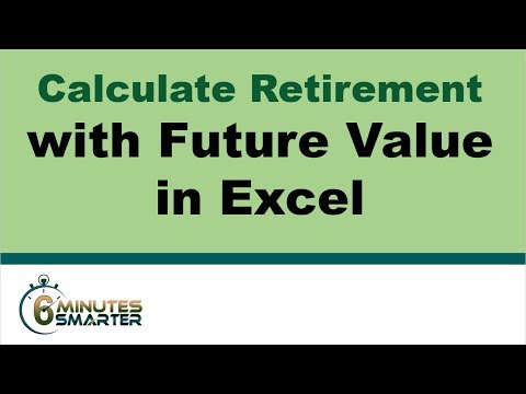 Calculate Future Retirement Fund with Excel FV Function