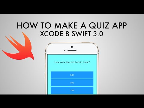 How To Make A Quiz App In xCode 8 (Swift 3.0)