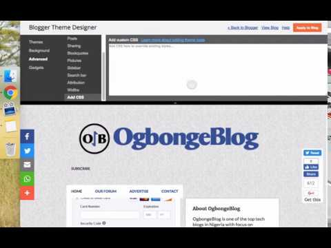 Blogger Emporio Blogger Theme Tutorial : How To Add Space Under Navigation Tabs