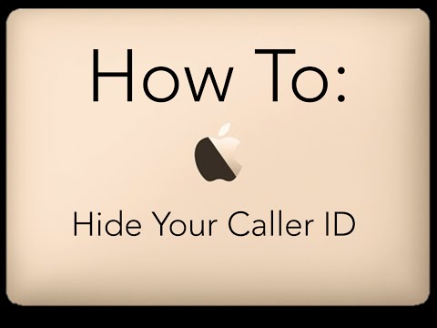 How To Hide Your Caller ID: iPhone