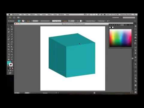 How To Create A 3D Cube Effect In Illustrator Using Extrude &Bevel