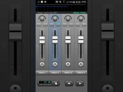 How to Record songs with Android phone or tablet  (Part 2 )