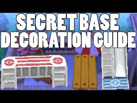 Secret Base Decoration Guide! Where to buy Secret Base Decorations Omega Ruby Alpha Sapphire