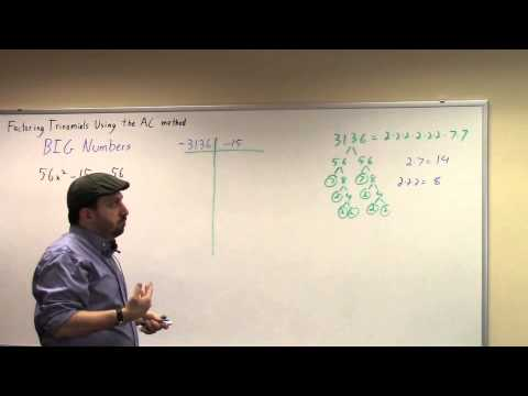 Factoring Using the AC method: Big Numbers