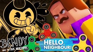BENDY AND THE NEIGHBOUR STEAL OUR FIDGET SPINNERS!