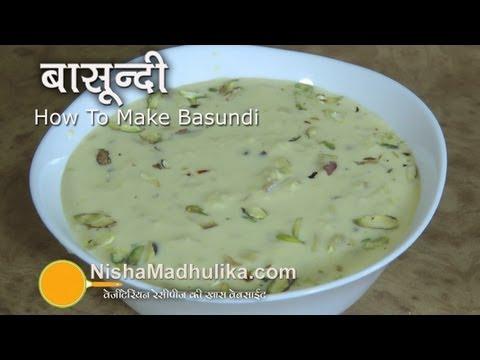 Basundi Recipe  Video - How To Make Basundi - Basundi Receipe
