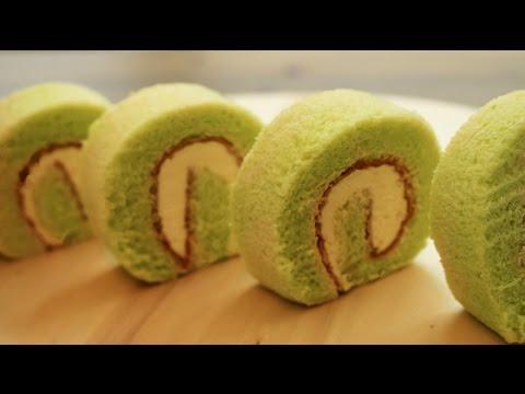 Homemade Pandan Swiss Roll Cake | Sponge Cake Recipe | Resep Kue Bolu Pandan 班蘭瑞士卷 班兰瑞士蛋糕卷