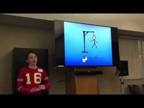 12 year-old programmed Hangman game in Python presentation