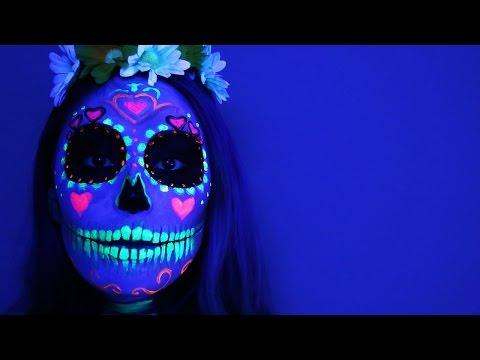 Black Light Sugar Skull ♥ Tutorial