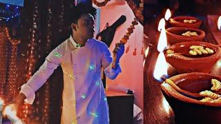 Family Ke Sath Diwali || DIWALI CELEBRATE without CRACKER ||