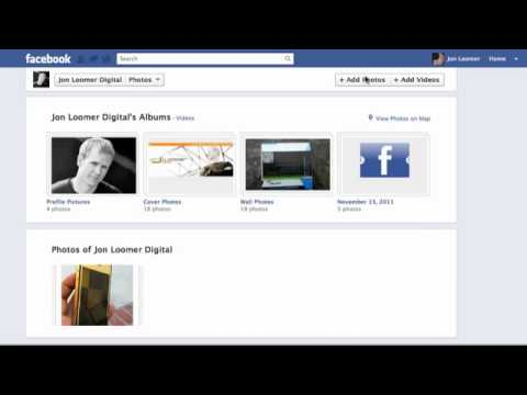 How to Edit Facebook Timeline Photos Icon