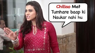 Kajol SHOUTS On Reporter & Shows ATT!TUDE At Helicopter Eela Promotional Event