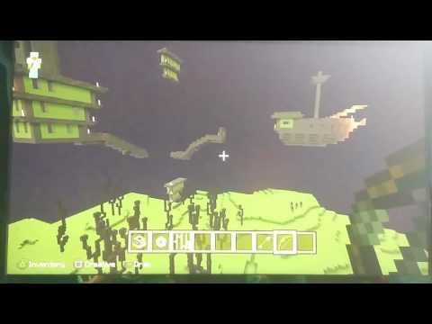 Minecraft PS3 make Ender Portal, defeat Dragon & find Castle Pt.2