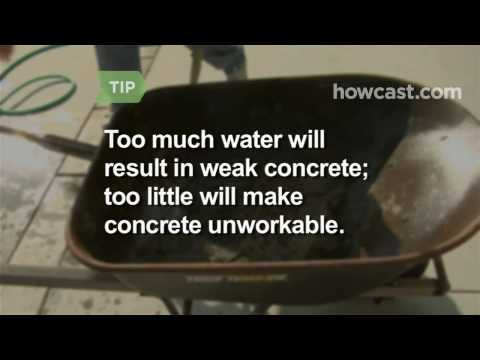 How to Mix Concrete by Hand