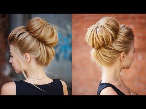 Chic textured bun updo for prom / wedding
