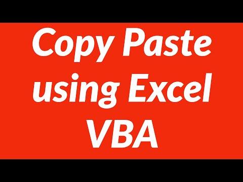 Copy paste data in Excel using VBA