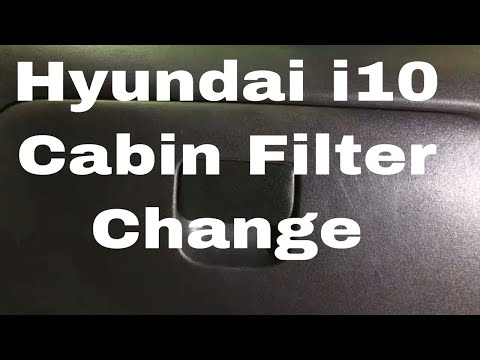 Hyundai i10 Cabin Filter Change Pollen Filter Replacement