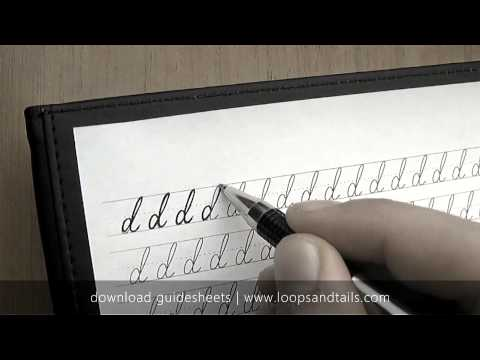 Learn cursive handwriting - Lowercase d