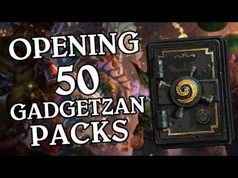 Opening 50 Gadgetzan Packs - Hearthstone