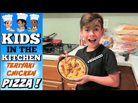 KIDS IN THE KITCHEN | BOBOLI TERIYAKI CHICKEN PIZZA | PHILLIPS FamBam