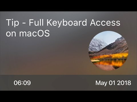 SCOM0730 - Tip - Full Keyboard Access on macOS