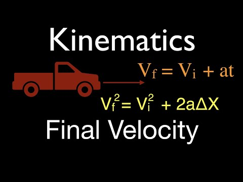 Physics, Kinematics (7 of 7) 1 D Horizontal Motion, Solve for Final Velocity, No. 1