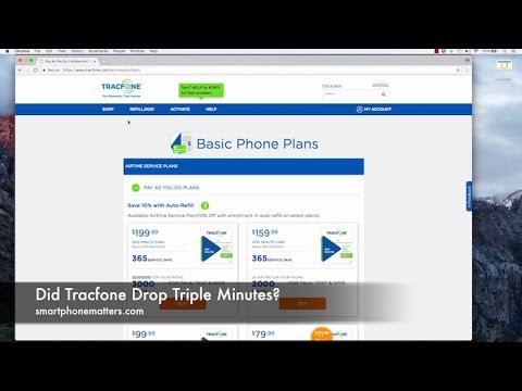 Did Tracfone Drop Triple Minutes?
