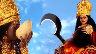 Maa Kali And Maa Sherawali Slayed Down Demon RaktBeej ||  English Subtitle Hindi Devotional Serial |