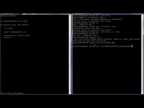 C Programming in Linux Tutorial #040 - Dynamic Shared Libraries