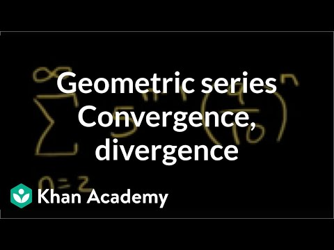 Geometric series convergence and divergence examples | Precalculus | Khan Academy