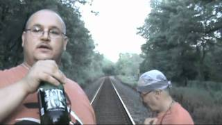 Friday Night 40 64 Fluid Ounces Of Beer On The Tracks
