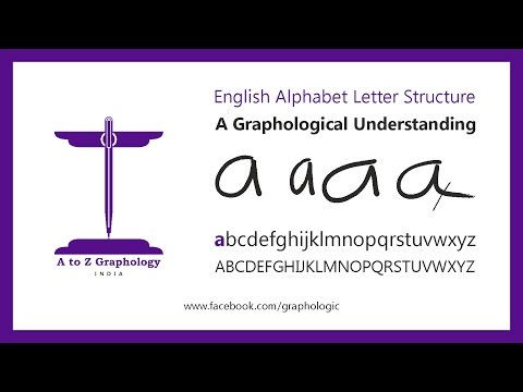 'a' for home? Letter clues: Graphological meaning of letter 'a' : A to Z Graphology