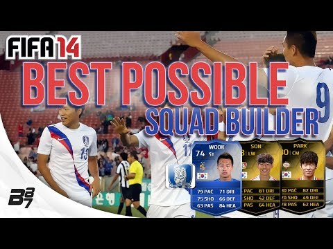 BEST POSSIBLE KOREA REPUBLIC TEAM w/ TOTS Shin Wook | FIFA 14 Ultimate Team Squad Builder