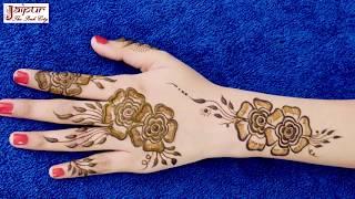 Lovely Mehndi Design for Hands | New Arabic Henna Mehndi Design for Hands #174 @ jaipurthepinkcity