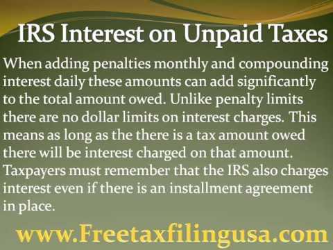 IRS Interest on Unpaid Taxes