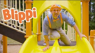 Learning With Blippi At An Outdoor Playground For Kids | Halloween Videos For Toddlers